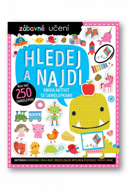 6100 Zabavne uceni Hledej a najdi Kniha aktivit se samolepkami