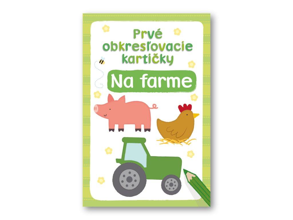 Prvé obkresľovacie kartičky –  Na farme