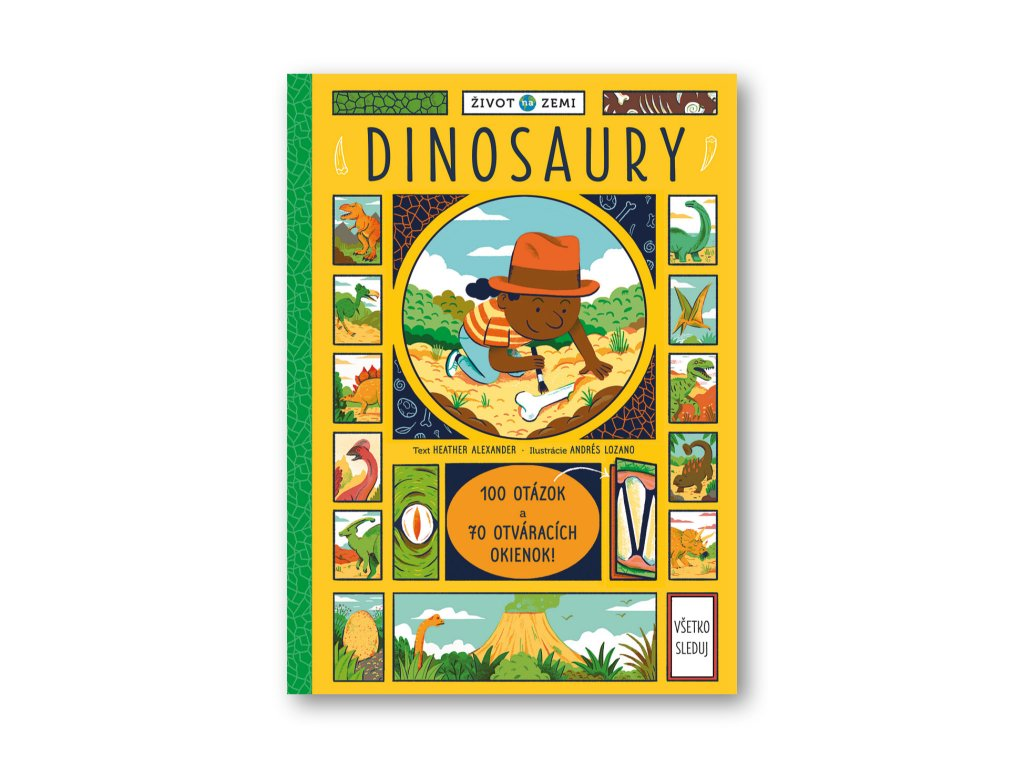 Život na Zemi Dinosaury – 100 otázok a 70 okienok