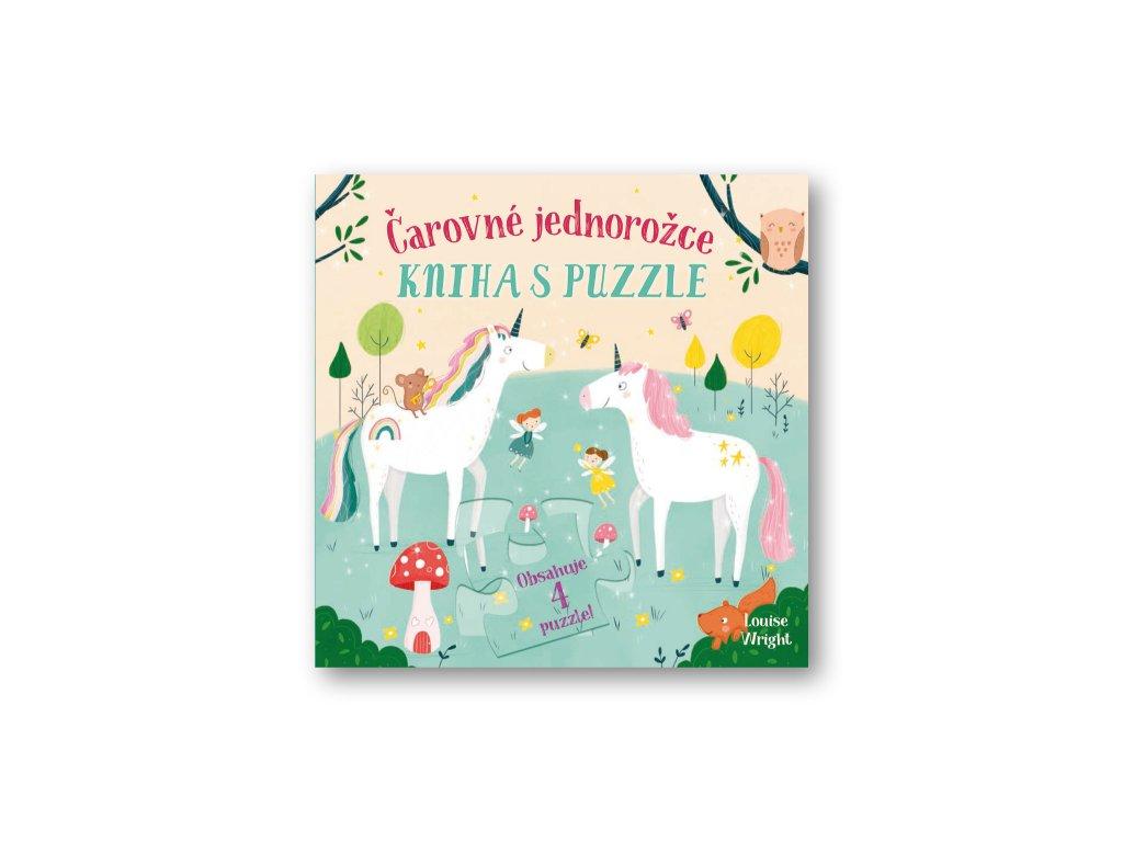 Čarovné jednorožce Kniha s puzzle