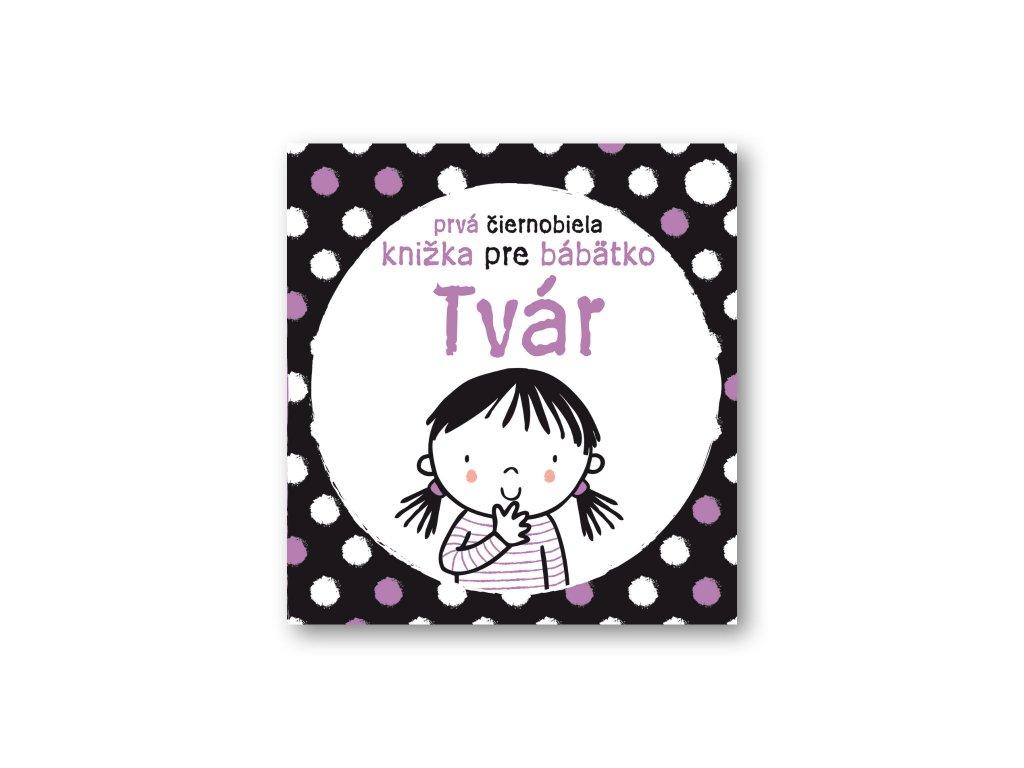 Prvá čierno-biela knižka pre bábätko TVÁR