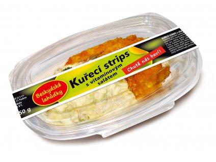 KUŘECÍ STRIPS s vitamínovým salátem