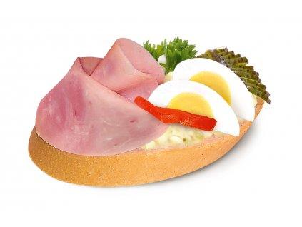 636 chlebicek se sunkou a vejcem