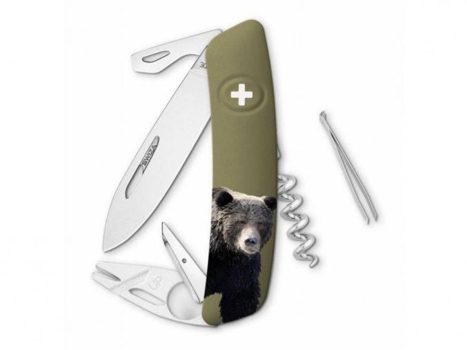 10122 swiza svycarsky kapesni nuz tt03 bear wildlife