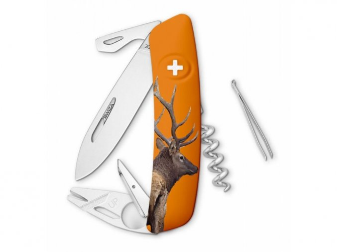 10125 swiza svycarsky kapesni nuz tt03 deer wildlife