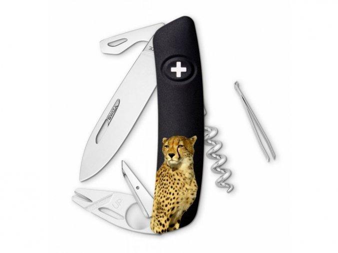 10134 swiza svycarsky kapesni nuz tt03 leopard wildlife