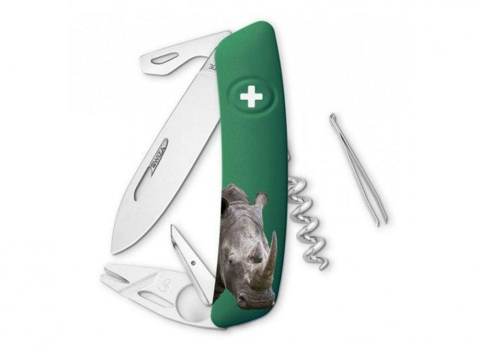 10143 swiza svycarsky kapesni nuz tt03 rhinoceros wildlife