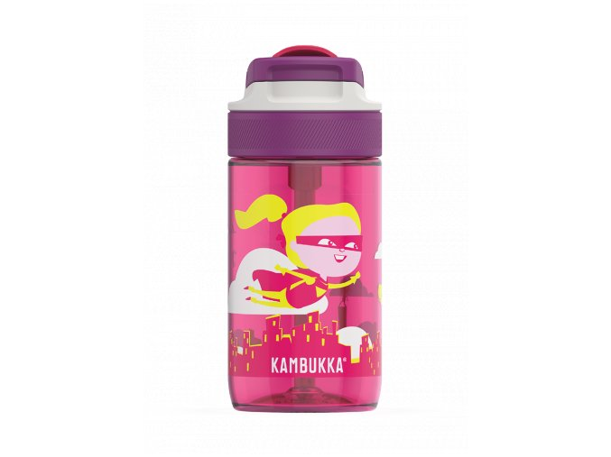 kids water bottle lagoon 400ml flying supergirl back 4