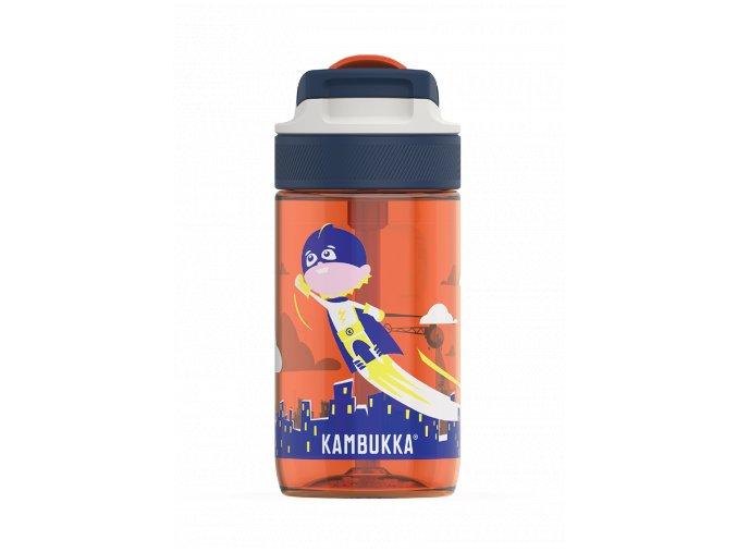 kids water bottle lagoon 400ml flying superboy back