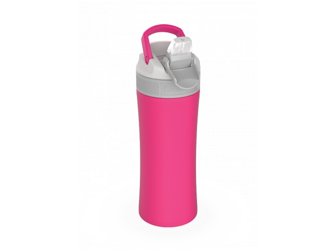 water bottle lagoon insulated 400ml hot pink above