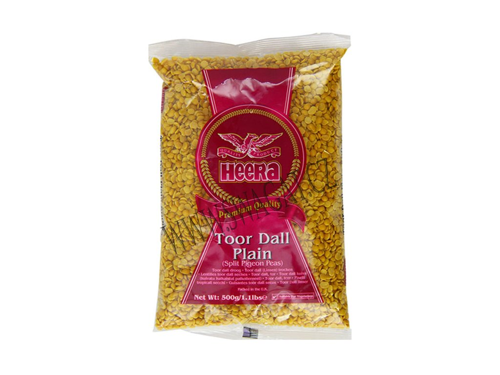 Toor Dall Plain - žlutý hrách loupaný, HEERA 500g