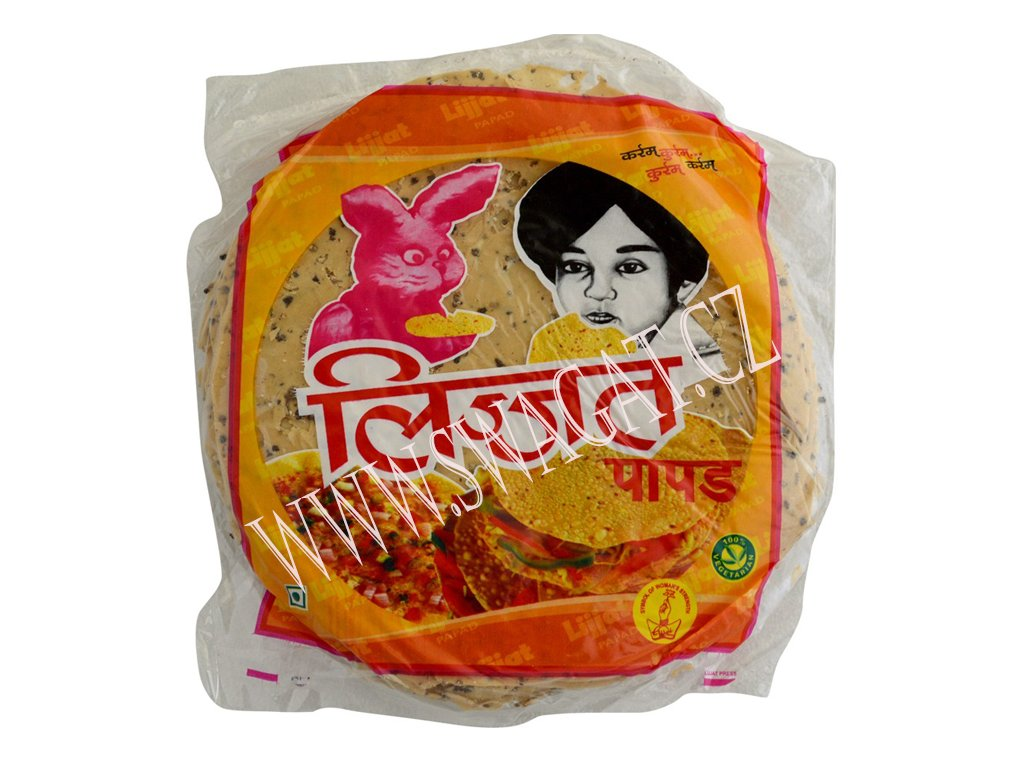 Punjabi Masala Papadum, LIJJAT 200g