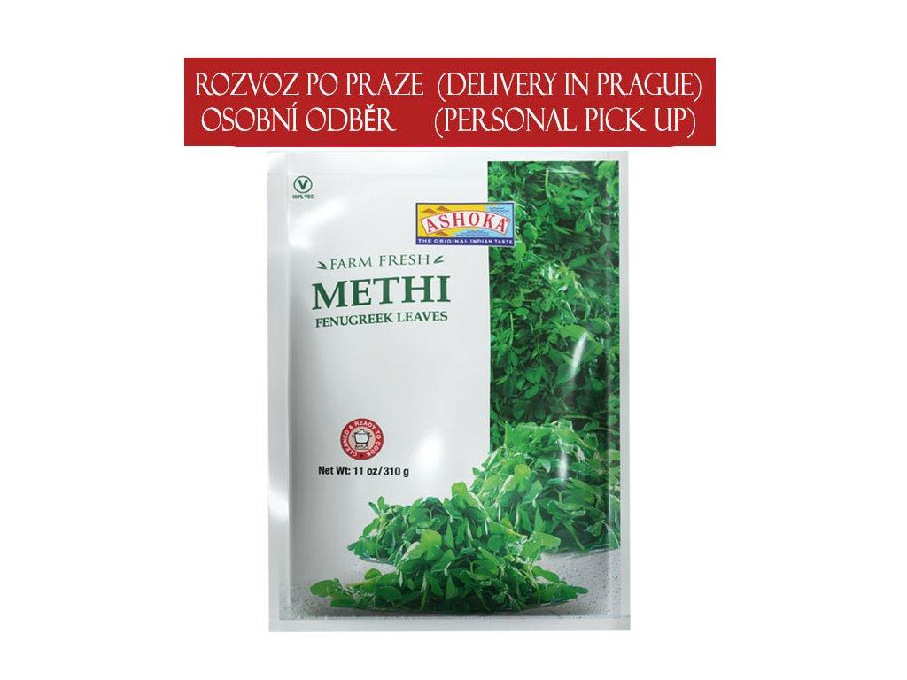Listy pískavice mražené (Frozen Methi Leaves), Ashoka 310g