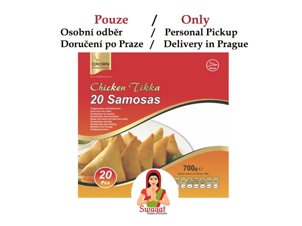 Kuřecí Tikka samosa (Chicken Tikka Samosa), CROWN 20ks (700g)