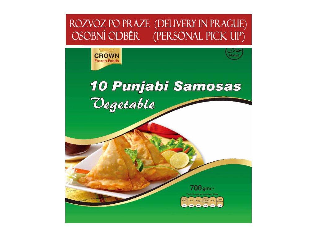 Pandžábská zeleninová samosa (Punjabi Veg. Samosa Jumbo), CROWN 700g (10ks)