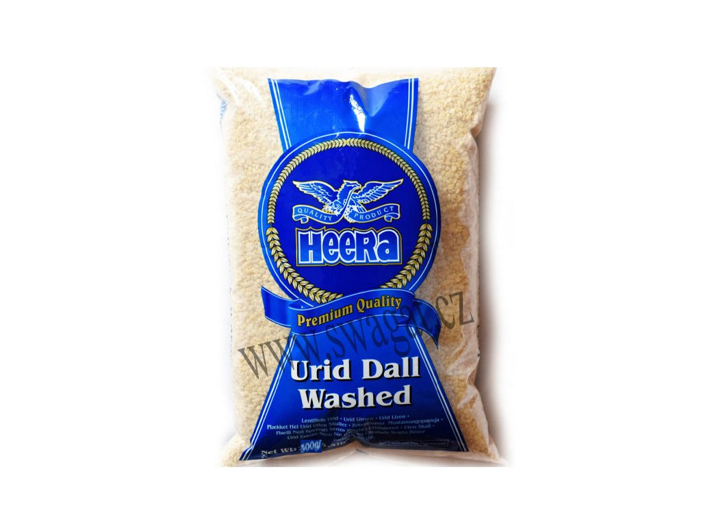 Urid Dall Washed - čočka loupaná, HEERA 500g