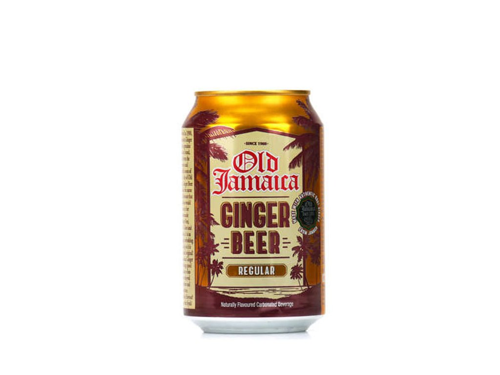 Ginger Beer zázvorová limonáda, OLD JAMAICA 330ml.