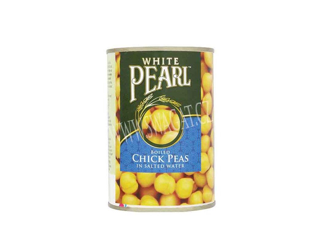 Konzervovaná cizrna ve slaném nálevu (Chick Peas in Tin), WHITE PEARL 400g