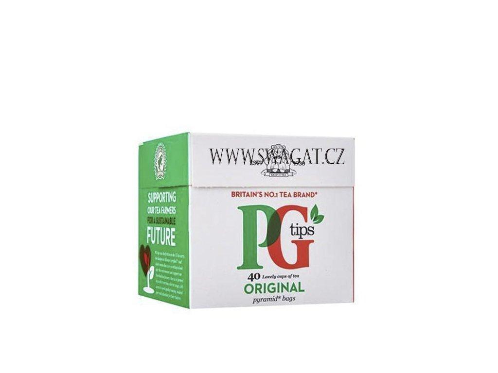 Anglický čaj pyramidové sáčky, PG tips 40 sáčků