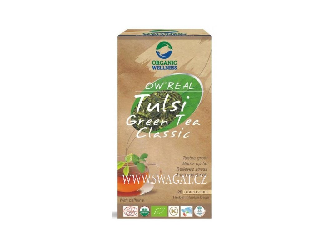 Bio tulsi zelený čaj (Bio Tulsi Green Tea Classic), OW 25 sačků
