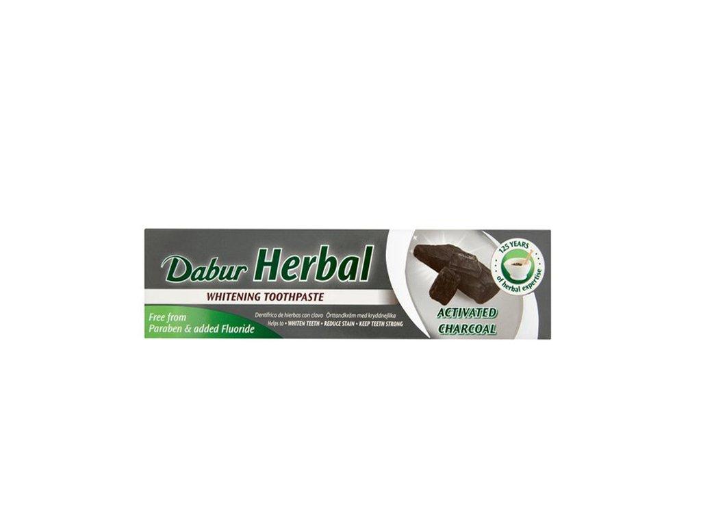 Bylinná zubní pasta s aktivním uhlím (Toothpaste With Activated Charcoal), DABUR 130g