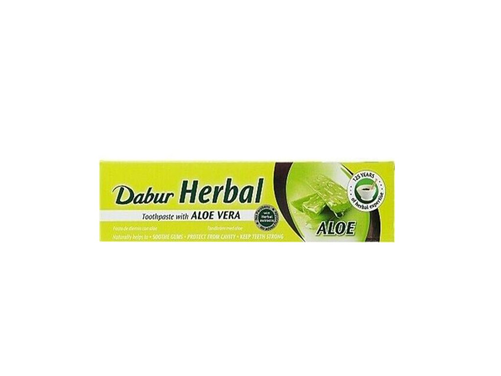 Bylinná zubní pasta Aloe Vera (Aloe Vera  Herbal Toothpaste), DABUR 130g