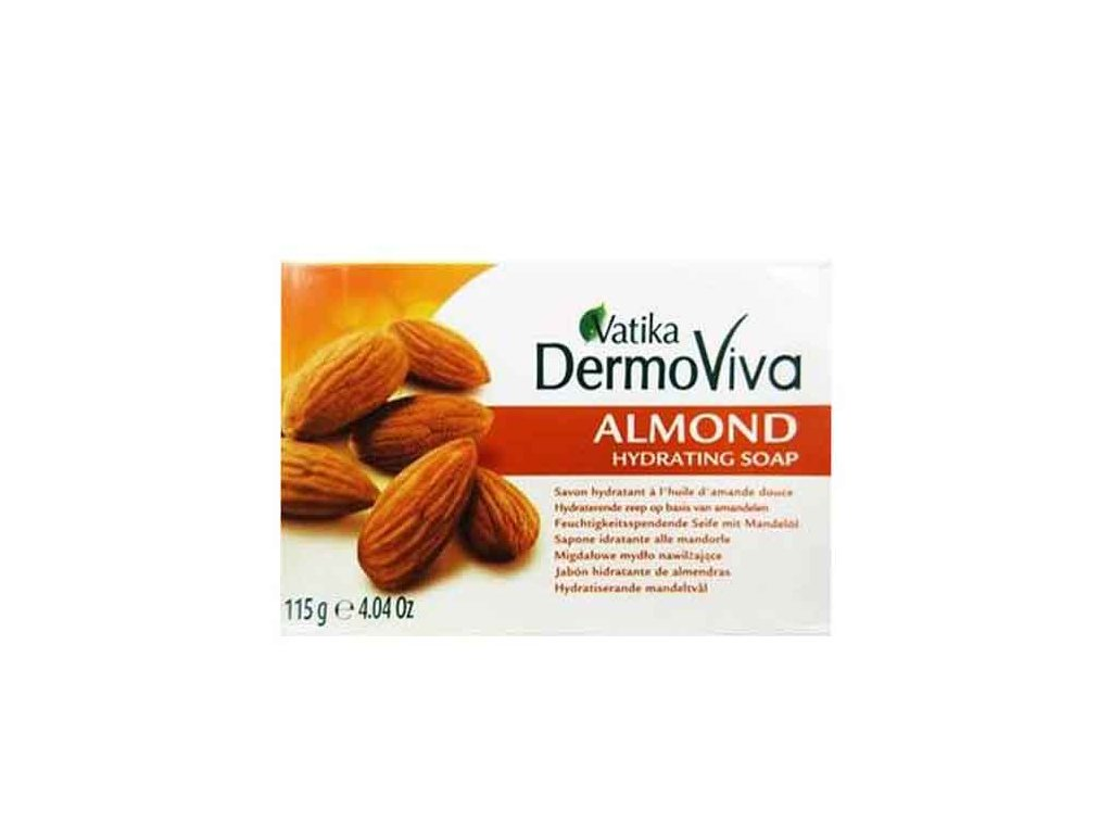 Mandlové hydratační mýdlo (Almond Hydrating Soap), Vatika DermoViva 115g