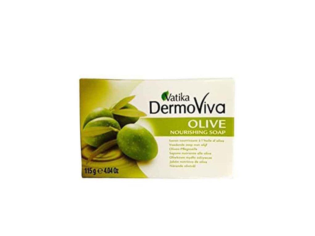 Výživné olivové mýdlo (Olive Nourishing Soap), Vatika DermoViva 115g
