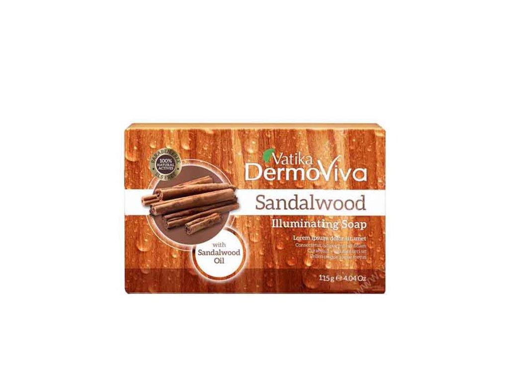 Santálové mýdlo (Sandalwood Luminating Soap), Vatika DermoViva 125g
