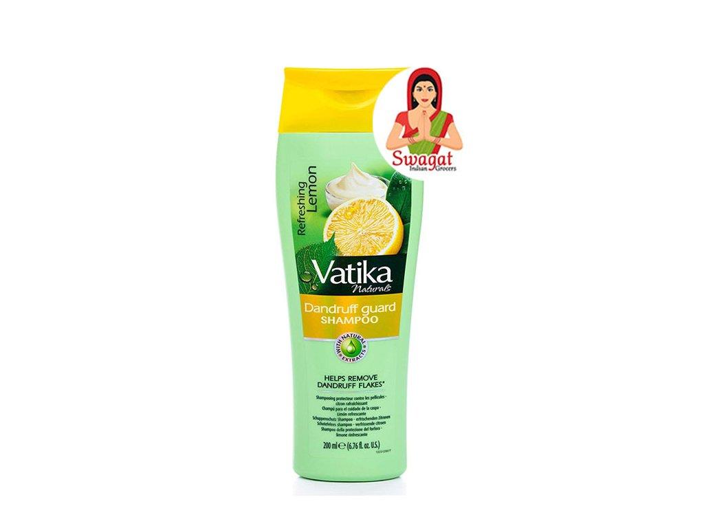 Citronový šampon proti lupům (Dandruff guard Shampoo with Lemon), Vatika 200ml