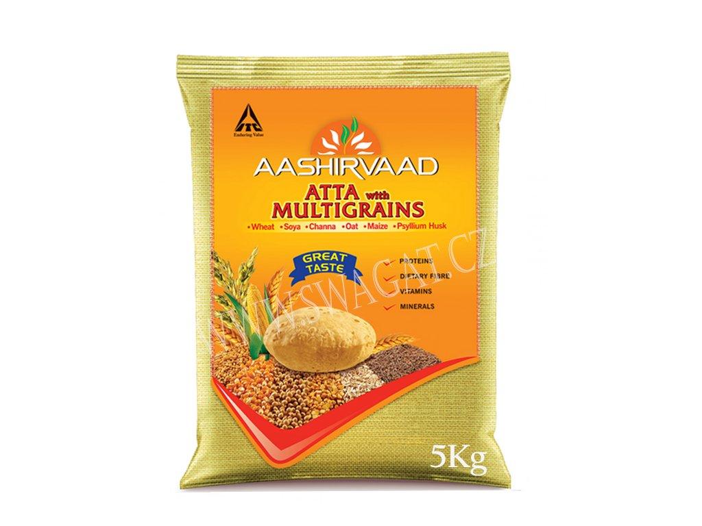 Atta vícezrnná mouka (Multigrain Flour), AASHIRVAAD 5kg