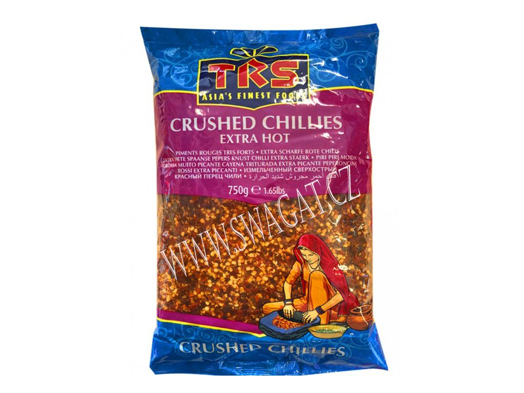 Extra pálivé drcené chilli (Extra Hot Crushed Chillies), TRS 750g