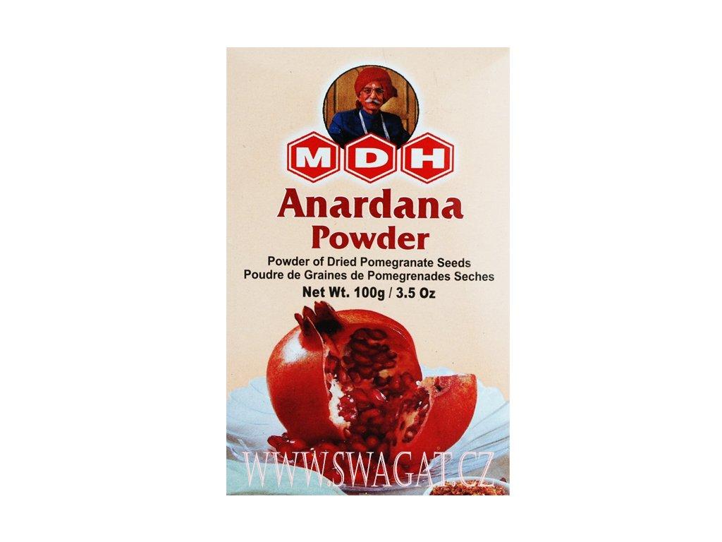 Anardana - granátové jablko mleté (Pomegranate Powder), MDH 100g