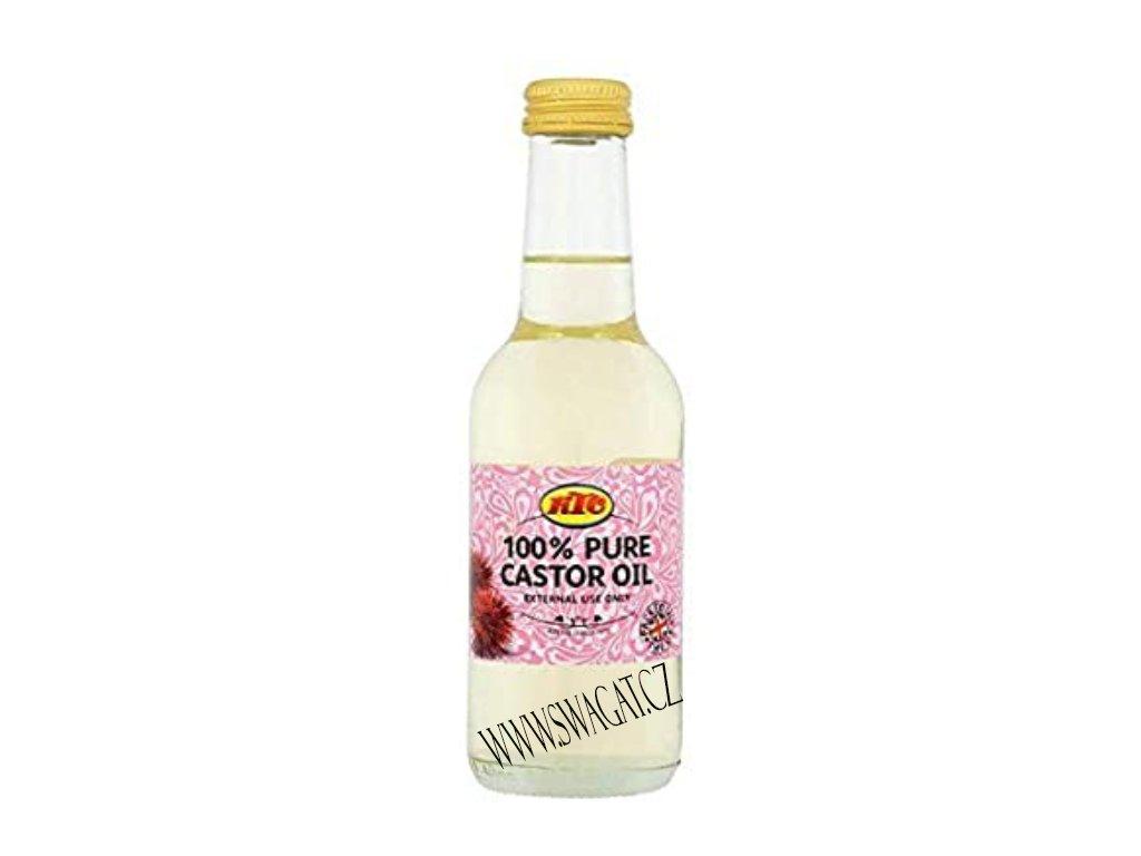 100% Ricinový olej (Pure Castor Oil), KTC 250ml