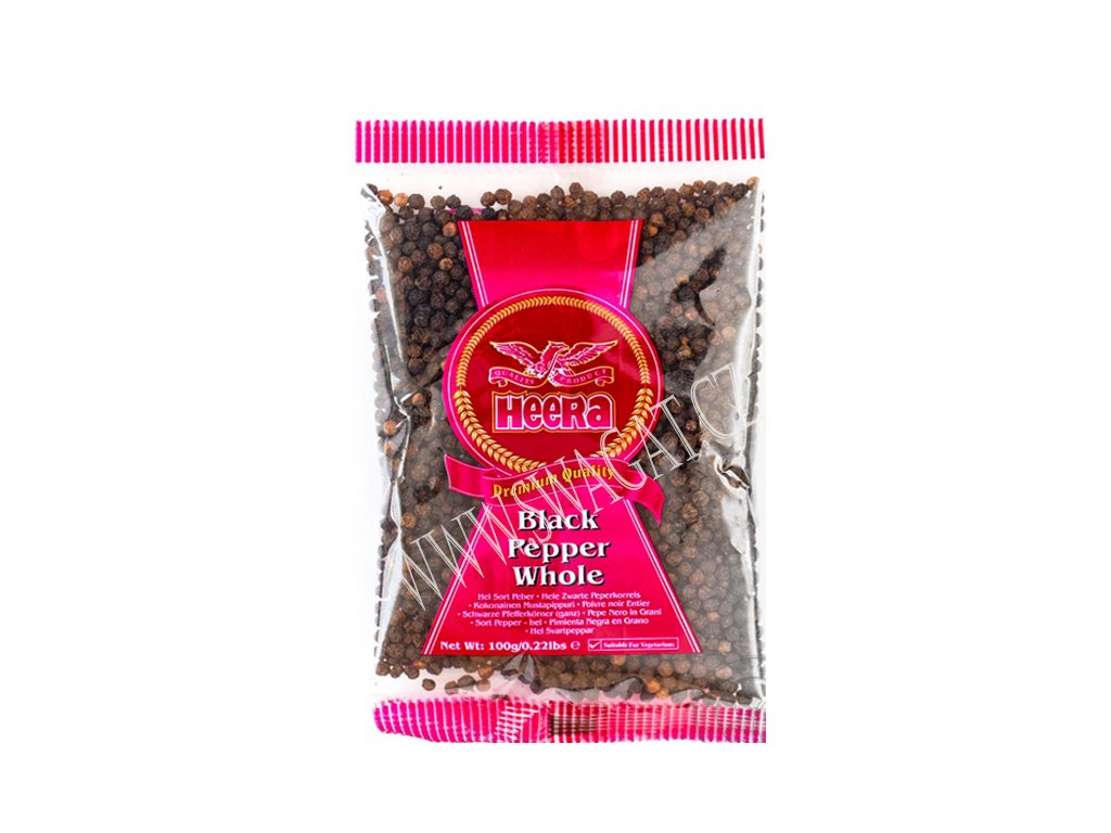 Pepř černý (Black Pepper Whole), HEERA 100g