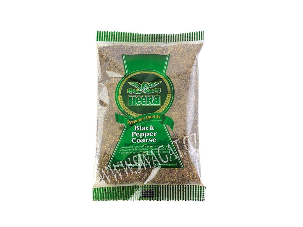 Pepř černý hrubě mletý (Black Pepper Coarse), HEERA 100g