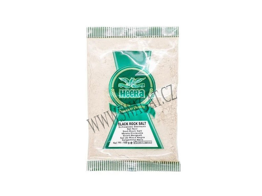 Černá Himalájská sůl mletá (Black Salt Powder), HEERA 100g