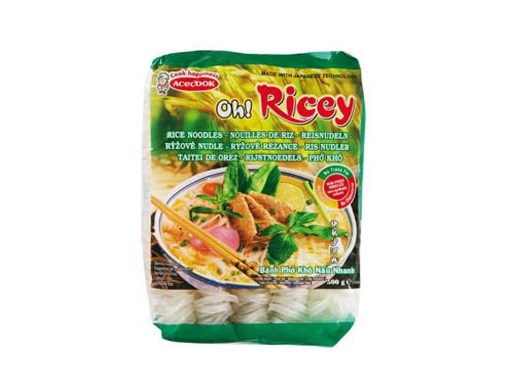 Široké rýžové nudle Pho, OH RICEY 500g