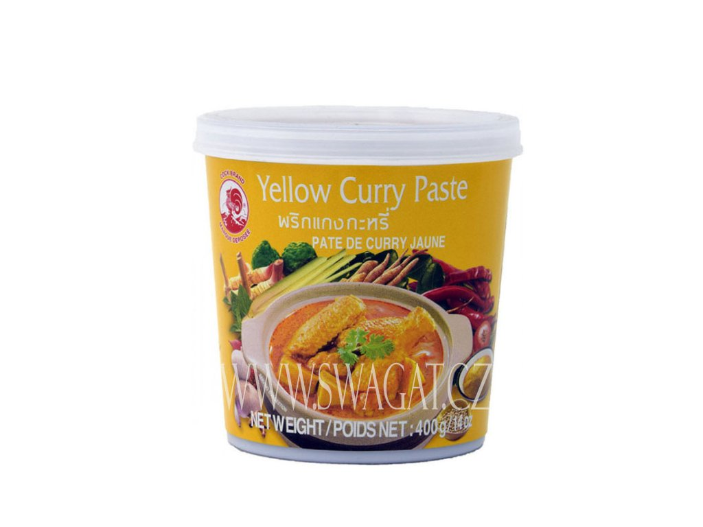 Žlutá kari pasta (Yellow Curry Paste), COCK BRAND 400g