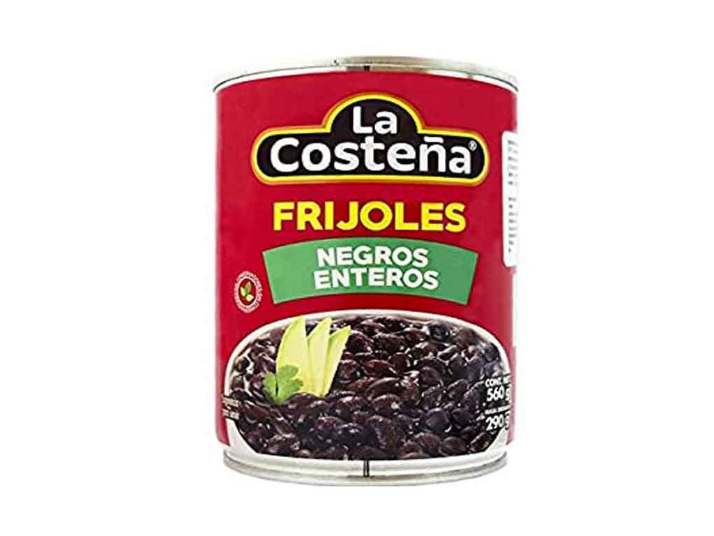 Frijoles Negros Enteros – fazole černé, La Costeňa 560g