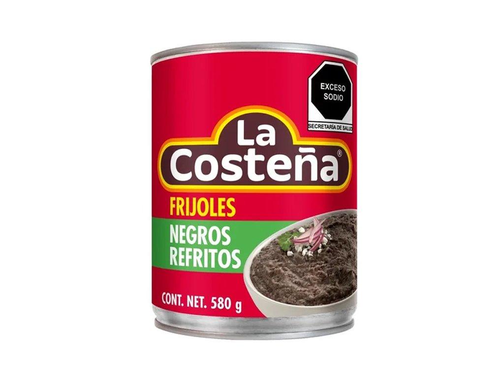 Frijoles Negros Refritos – krém z černých fazoli, La Costeňa 560g