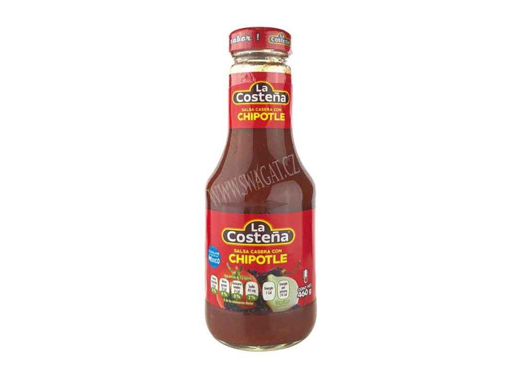 Salsa Casera con Chipotle - dochucovací ostrá omáčka, LA COSTEŇA 460g
