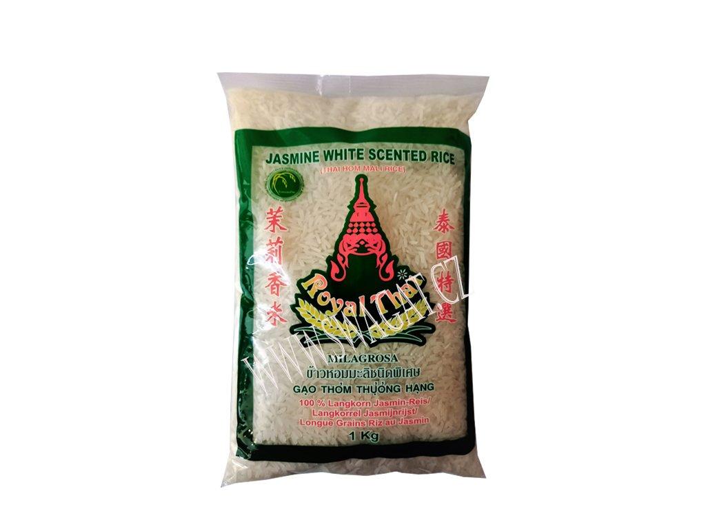 Dlouhozrnná jasmínová rýze (Longgrain Jasmine Rice), ROYAL THAI 1kg