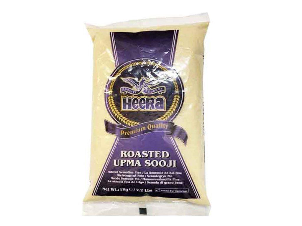 Roasted Sooji - pšeničná krupice hrubá (Wheat Semolina Coarse), HEERA 1kg