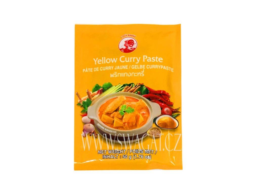 Žlutá kari pasta (Yellow Curry Paste), COCK BRAND 50g