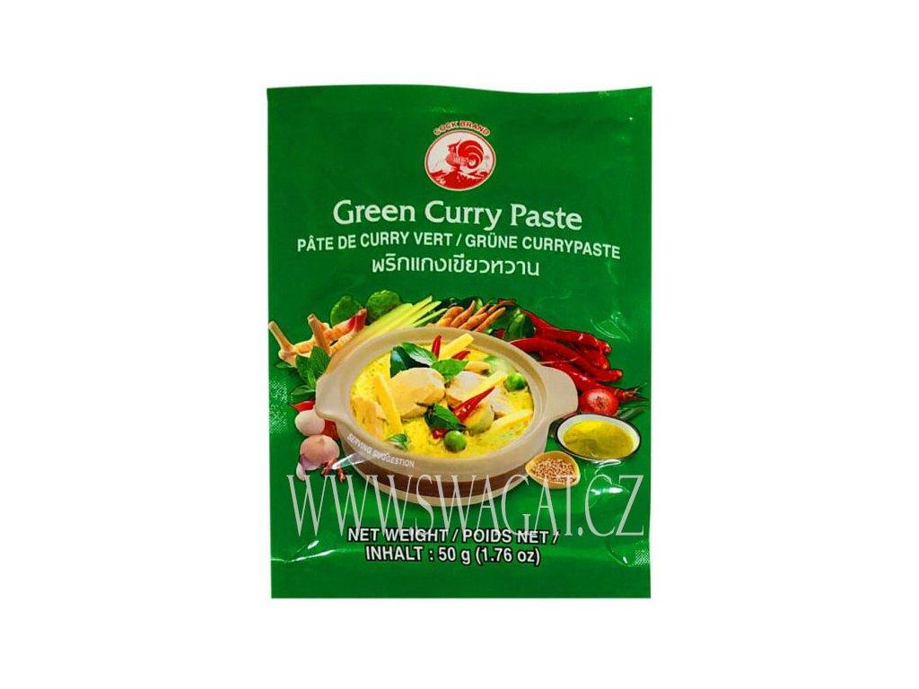 Zelená kari  pasta (Green Curry Paste), COCK BRAND 50g