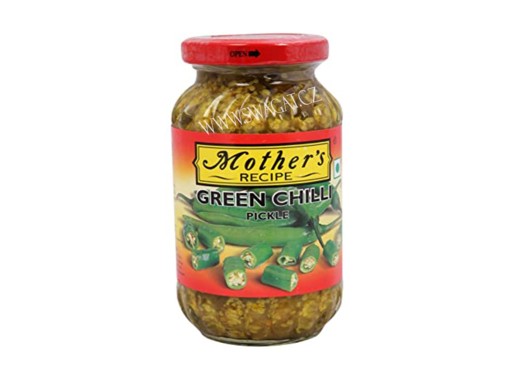 Nakládaný zelený chilli (Green Chilli Pickle), Mother`s Recipe  500g