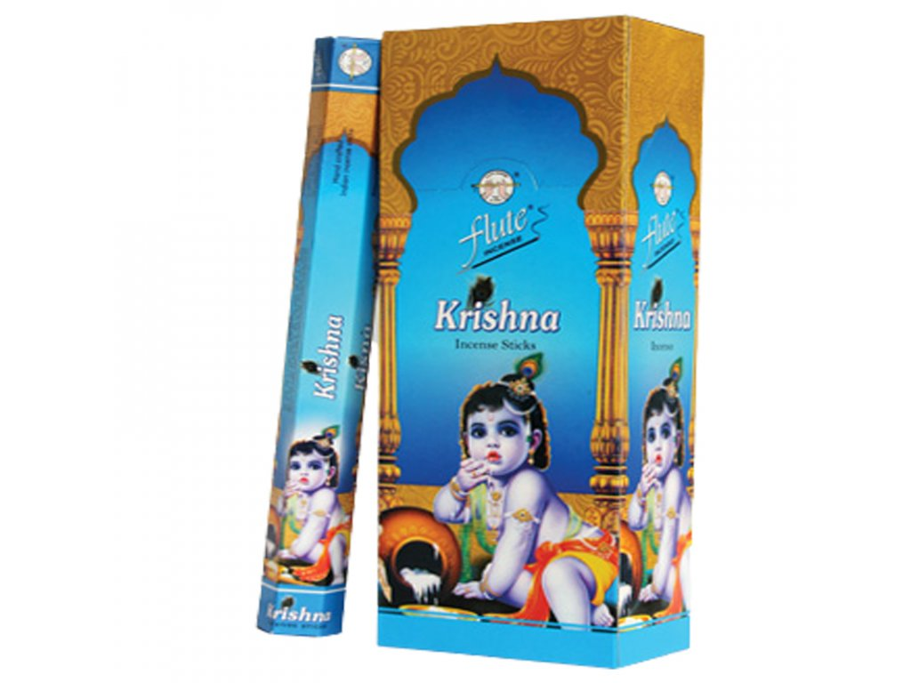 Vonné tyčinky Krišna (Krishna Incense Sticks), 20pc