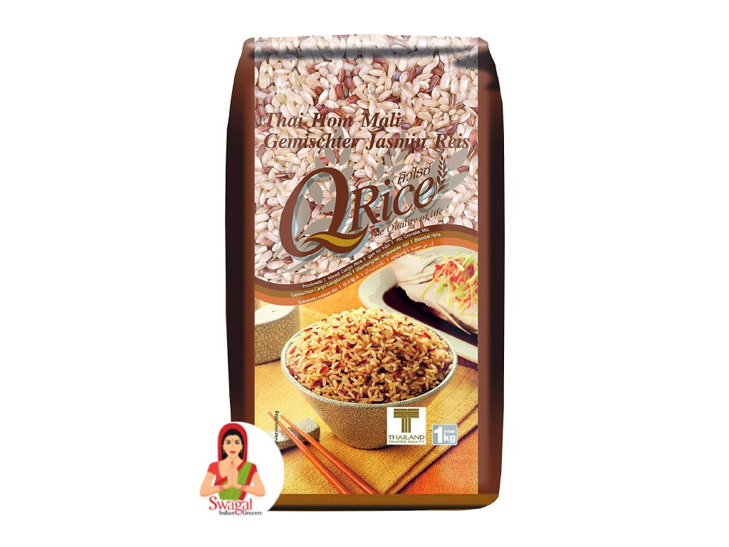 QRice thajská vícezrnná jasmínová rýže, 1kg