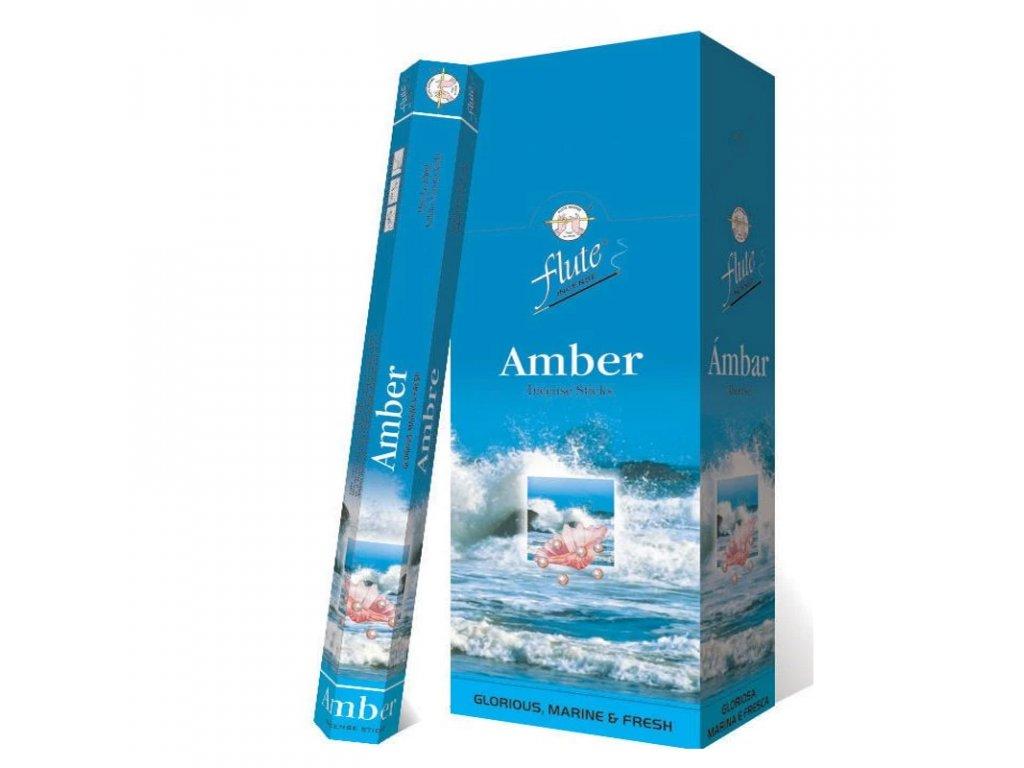 Janrar - vonné tyčinky Amber (Amber Incense Sticks), 20pc